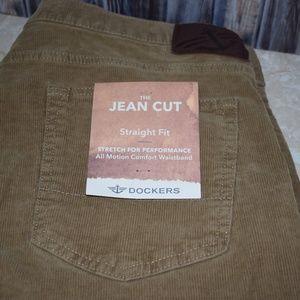 Dockers Mens Jean Cut Corduroy Pants Straight Fit